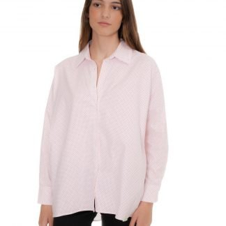oversized blouse with red dots castano de indias sustainable fashion