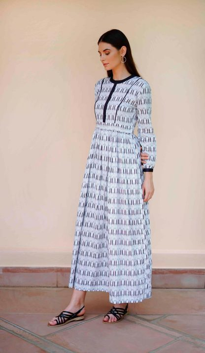 deco long dress vino supraja sustainable fashion