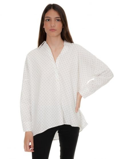 oversized blouse with grey stars castano de indias sustainable fashion