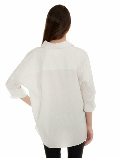 oversized blouse with beige dots castano de indias sustainable fashion