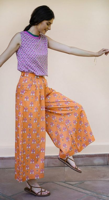 birdie palazzo pants vino supraja sustainable fashion