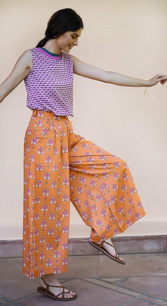 birdie palazzo pants vino supraja sustainable fashion