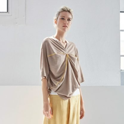 Dvaita Lotus Top Bav Tailor Goshopia Ecoluxury sustainable fashion