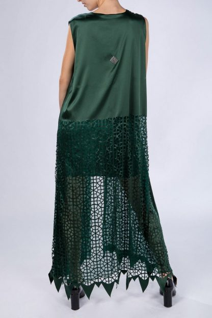 Light Oriental Kaftan Emerald Green