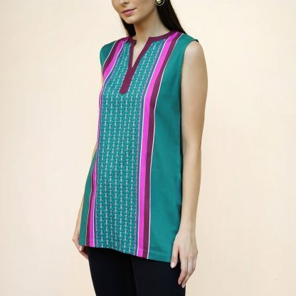 go green sleeveless tunic vino supraja sustainable fashion