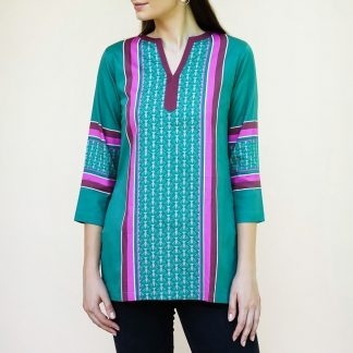 go green tunic with sleeves vino supraja sustainable fashion