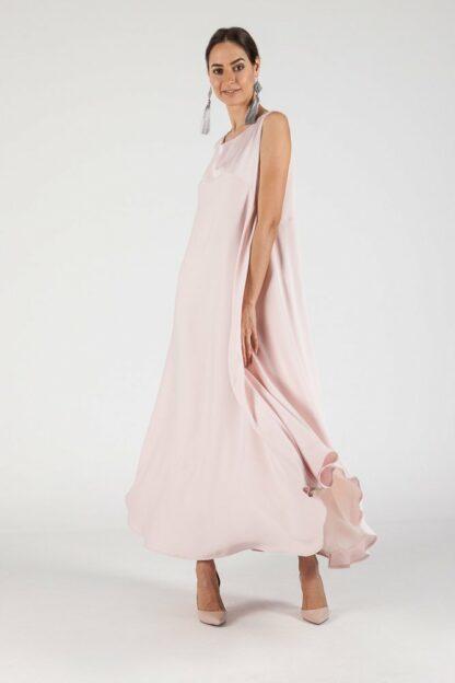 sleeveless gown slow fashion