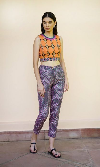 smart cropped pants vino supraja sustainable fashion