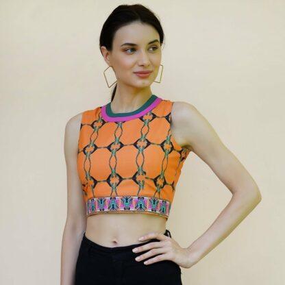 Oscars Orange Crop Top Vino Supraja Goshopia shop sustainable fashion