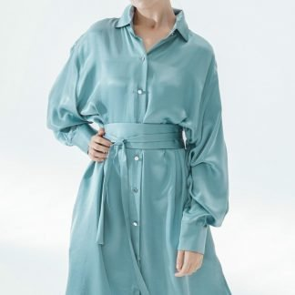 K-Shirt Midi Blue Fog