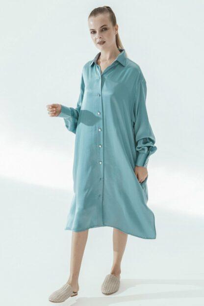 K-Shirt Midi Blue Fog