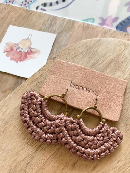 HAMIMI HANDMADE SLOW FASHION HAM059 Fefara Earrings - Mink - Nous Wanderlust Stories