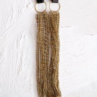 HAMIMI HANDMADE SLOW FASHION HAM064 Sinsla Long Necklace - Black - Nous Wanderlust Stories