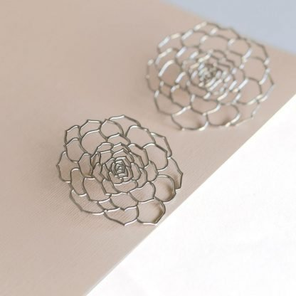 Desert Rose earrings made in Dubai jewellery slow fashion ethical jewelry