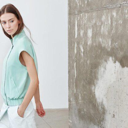 Mint Dvaita Bomber Jacket Bav Tailor Sustainable Fashion-1