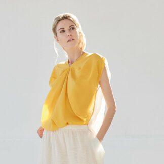 Dvaita Lotus Yellow Top Bav Tailor Sustainable Fashion-2