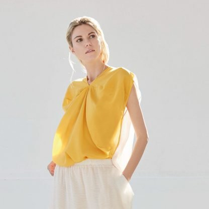 Dvaita Lotus Yellow Top Bav Tailor Sustainable Fashion-2