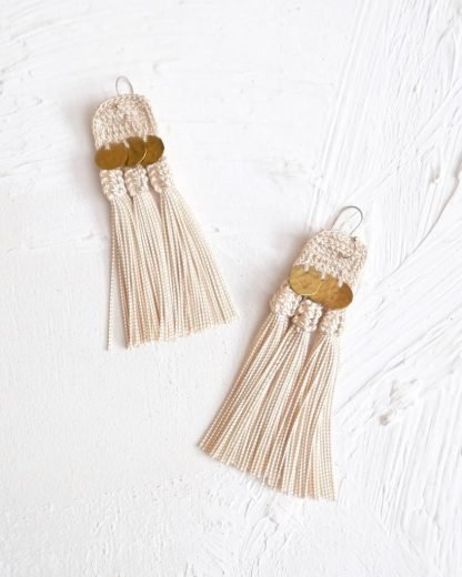 Handmade earrings Handira Fringe Earrings - Nous Wanderlust Stories