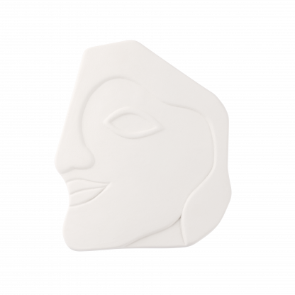 CAMBIAR White Matte Face Wall Ornament