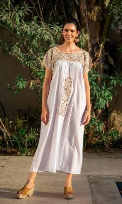 Handmade Antonino white dresses sustainable dresses