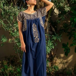 Navy Blue Antonino handmade dresses sustainable dresses