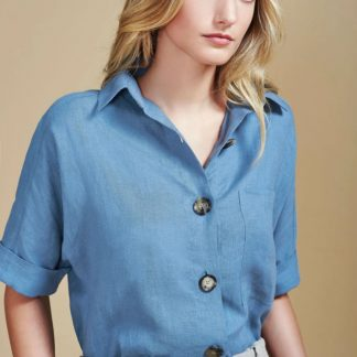 Clovy Linen Blouse moda sostenible