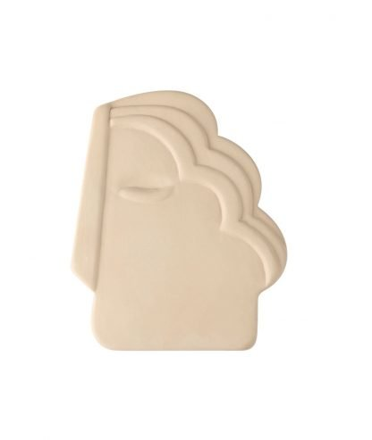 Creme Face wall ornament