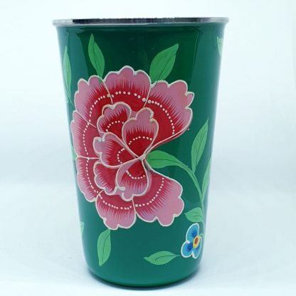Handpainted stainless steel cup carnation