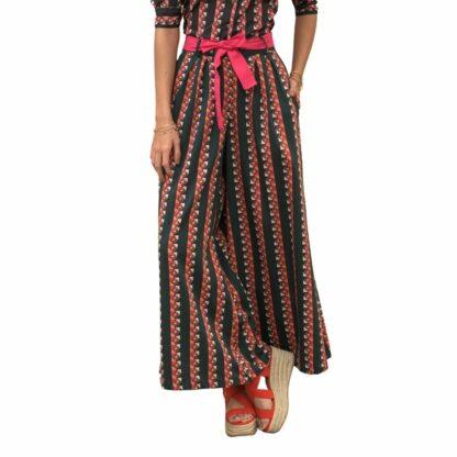 Organic Cotton Trailing Stripes Palazzos- eco-friendly fashion
