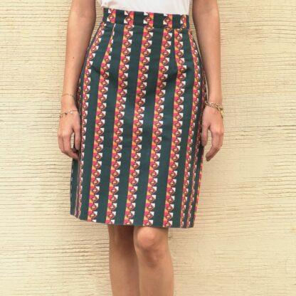 Organic Cotton Trailing Stripes Skirt- organic clothes