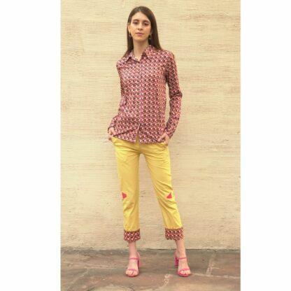 Organic Cotton Yellow Pants