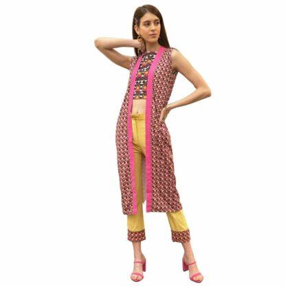 R-PET Signature Patang Kimono- Upcycled clothing
