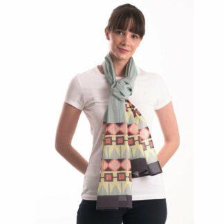 Organic cotton pastel tribe scarf