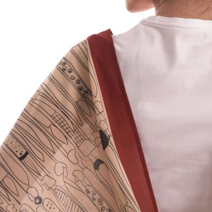 Social Scarf organic Cotton- perfect gift