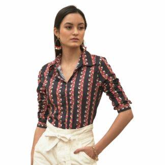R-PET Trailing Stripes Shirt- Recycled fiber clothing