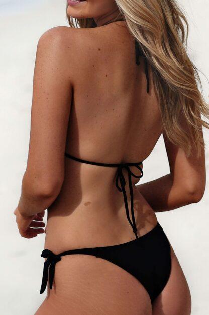 Styelle Sustainable Swimwear- Mia black eco bikini top biodegradable swimwear